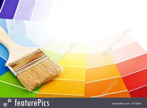 picture of paint brush with color cards