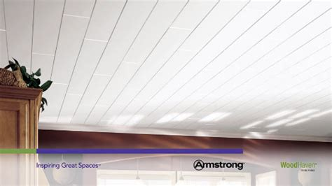 armstrong woodhaven ceiling planks woodhaven woodhaven collection wood paintable 5 quot x 84