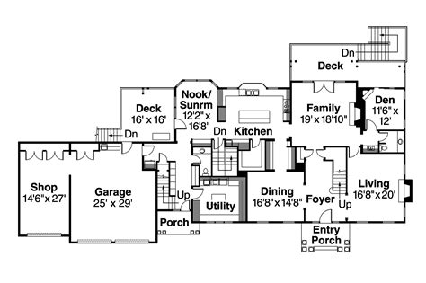 Colonial Floor Plans by Colonial House Plans Princeton 30 497 Associated Designs