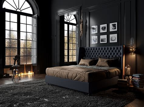 Designing City Themed Bedrooms Inspiration From 3 Hotel Suites by Classic Black Bedroom On Behance