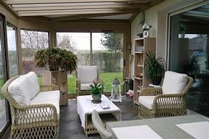 Salon De Veranda : v randa et pergola avec salon de jardin md concept ~ Teatrodelosmanantiales.com Idées de Décoration