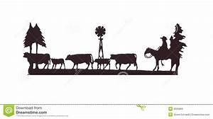 Buckaroos - Cowboy On His Horse, Herding Cattle Royalty ...