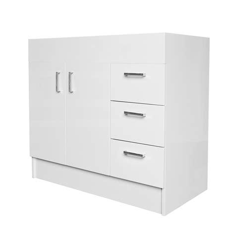 estilo mm vinyl wrap freestanding vanity cabinet