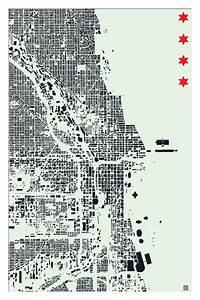 Chicago Figure Ground Map  564 U00d7846