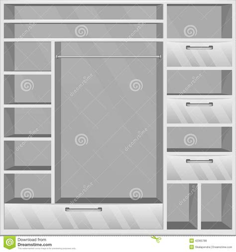 Garderobe Vide Illustration De Vecteur  Image 42365788
