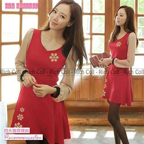 mini dress santai warna soft info baju mini dress simple merah model terbaru cantik