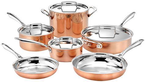 cuisinart  piece tri ply copper cookware set  ebay