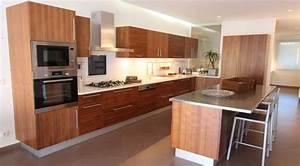 Cuisine amenagee bois cuisine bois verni rustique mod le for Petite cuisine équipée avec meuble de salle a manger en bois massif