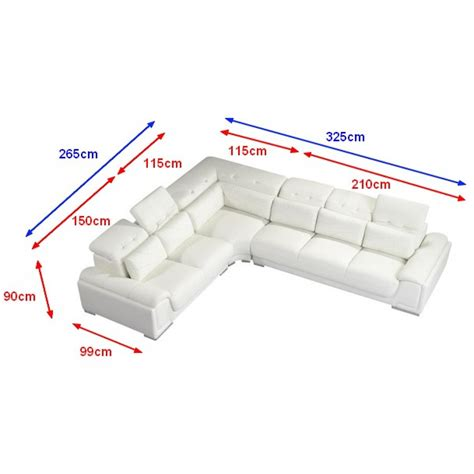 taille canapé angle incroyable canape d angle 7 places 7 canape d angle en