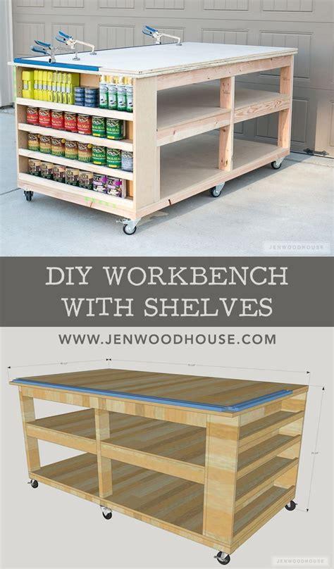 workbench  shelves diy workbench diy furniture
