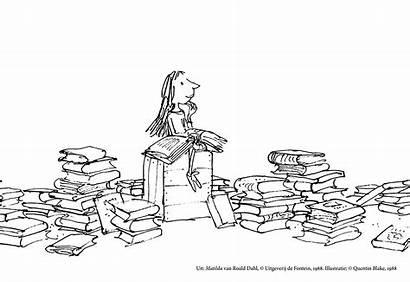 Matilda Roald Dahl Kleurplaat Boeken Quentin Blake
