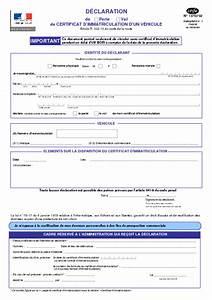 Déclaration De Perte Du Permis De Conduire : d claration de perte ou vol de certificat d 39 immatriculation formulaire cerfa documentissime ~ Medecine-chirurgie-esthetiques.com Avis de Voitures