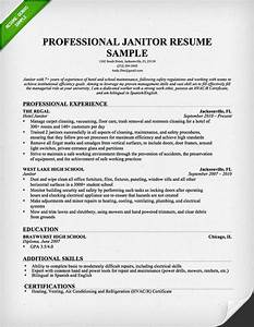 Professional janitor resume sample resume genius for Janitorial resume examples
