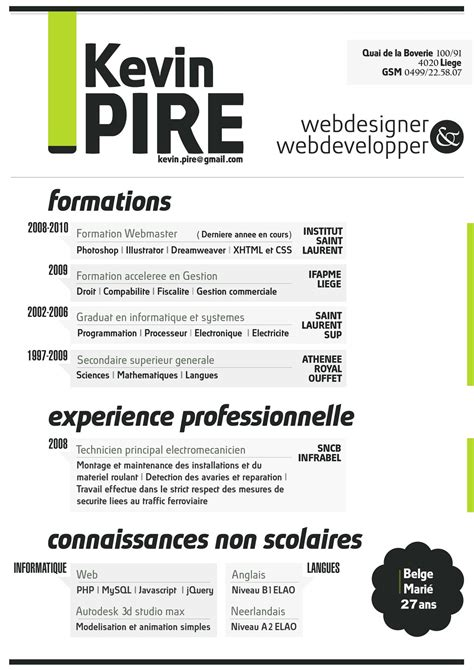 the most creative beautiful resume styles