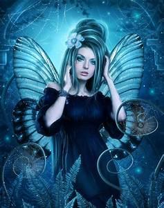 Items similar to Blue Fairy artwork,fantasy fairy print ...
