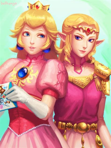 Princess Peach And Princess Zelda Super Smash Bros Melee