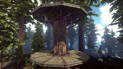wooden tree platform official ark survival evolved wiki
