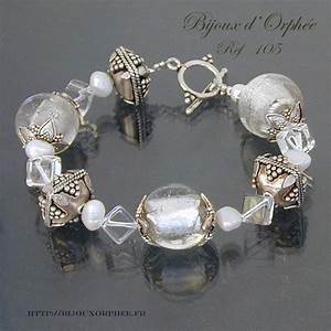 bracelet fantaisie perles rondes guillochees en argent With fabrication de bijoux fantaisie
