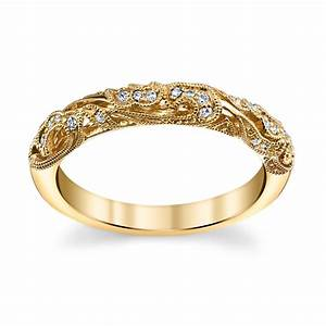 peter lam 14k yellow gold diamond wedding ring 008 cttw With peter lam wedding rings