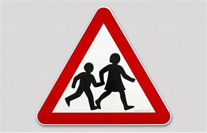 Signs Crossing Children Calvert Margaret Road Clipart
