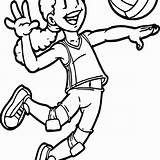 Volleyball Drawing Coloring Pages Beach Team Clipartmag Getdrawings sketch template
