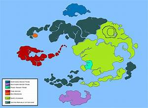 World of Avatar Political Map (Legend of Korra) by Loudo ...