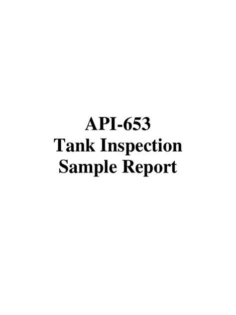 API-653 Tank Inspection Sample Report | Welding | Corrosion