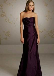 eggplant bridesmaids dress wedding pinterest satin With eggplant dresses for weddings