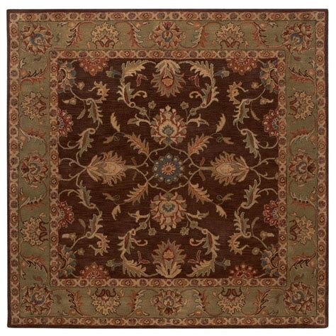 home decorators collection rugs home decorators collection aristocrat brown 8 ft x 8 ft 42136