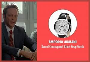 Vince Vaughn Emporio Armani Round Chronograph Black Strap ...