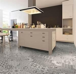 sol vinyl pour cuisine 2 carrelage gris mural et de sol With carrelage sol pour cuisine