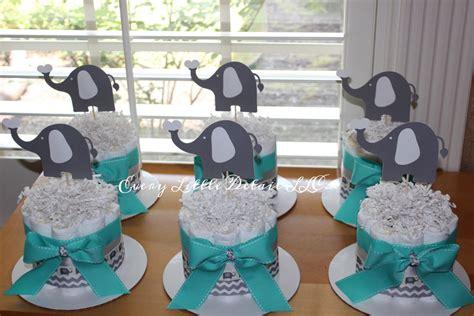 blue elephant baby shower decorations elephant mini cake bundle blue gray elephant
