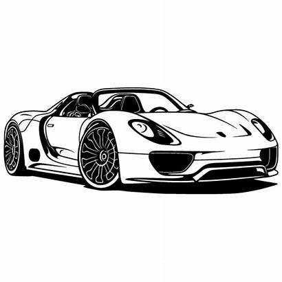 Porsche 918 Spyder Vinilos Decorativos Wandtattoo Stickers