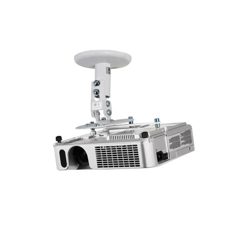 Projector Mount Drop Ceiling by B Tech Projector Ceiling Mount 190mm Drop White Tradeworks