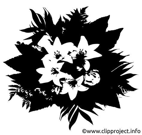 blumenstrauss clipart schwarz weiss