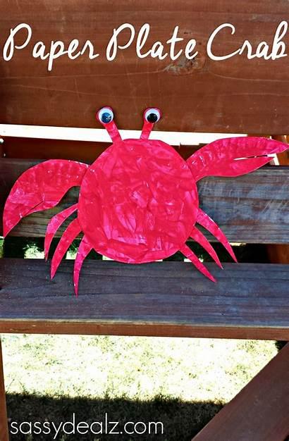 Crab Paper Crafts Plate Craft Theme Diy