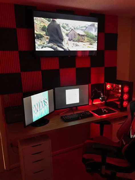 Setup Ideas by Apartment Setup Black Themed Battlestations