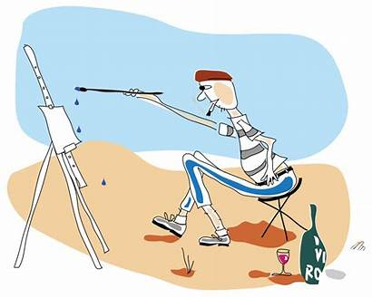 Artist Painting Easel Svg Starting Become Parisian
