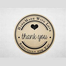 Thank You Stickers Printable Kraft Stickers Business
