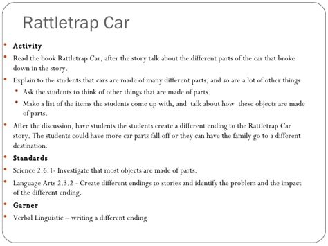 rattletrap car ring o project 1