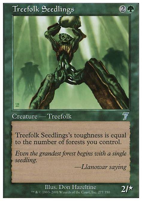 Mtg Treefolk Deck Edh by Treefolk Seedlings 7ed Mtg Card