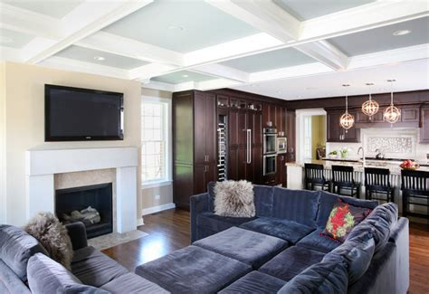 Family Room Open To Kitchen  Traditional  Family Room