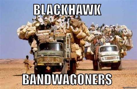 Chicago Blackhawks Memes - chicago blackhawk bandwagon meme