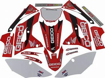 Honda Geico Graphic Cor Kit Kits Crf450r