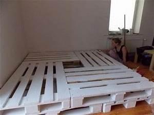 Bett Aus Europaletten Kaufen : die besten 25 palettenbett ideen auf pinterest ~ Michelbontemps.com Haus und Dekorationen