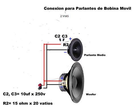 solucionado ayuda conexion interna bafle 2 vias yoreparo