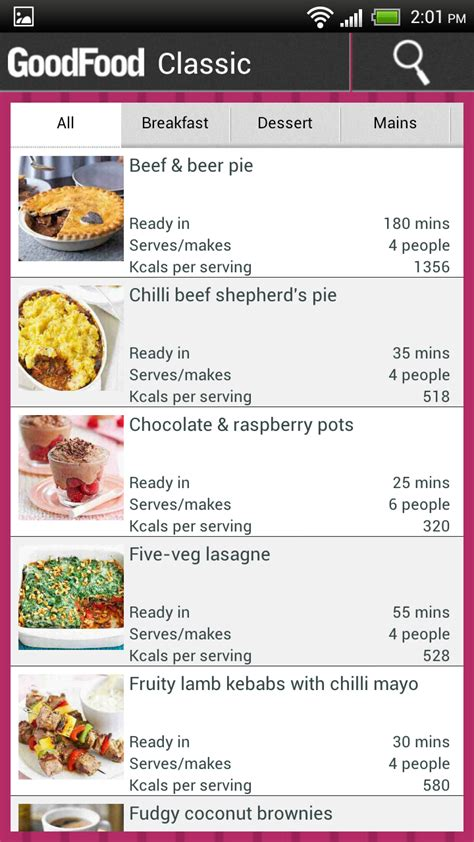 bbc releases good food recipe app  android packs