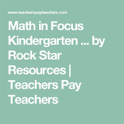 mathematics  focus kindergarten smart board lessons ch