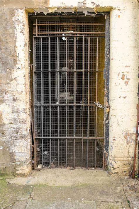 dungeon door metal bars  grills   abaondoned