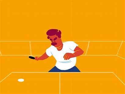 Ping Pong Playing Olympics Animation Gifs Pingpong